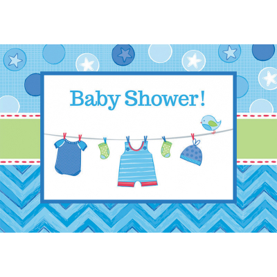 Shower with Love Boy Postcard Invitations 8PK