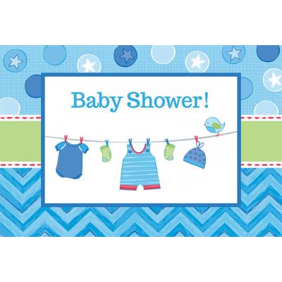 Shower with Love Boy Postcard Invitations 8PK