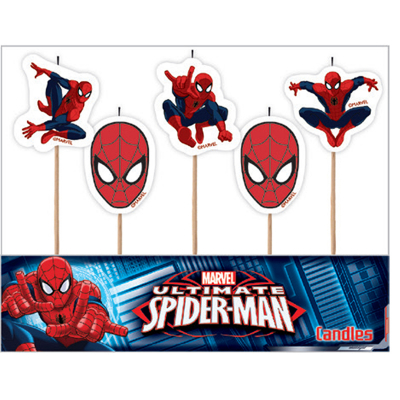 Spiderman Candles 5PK