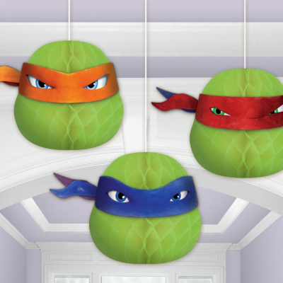 Teenage Mutant Ninja Turtles Honeycomb Decorations 3PK