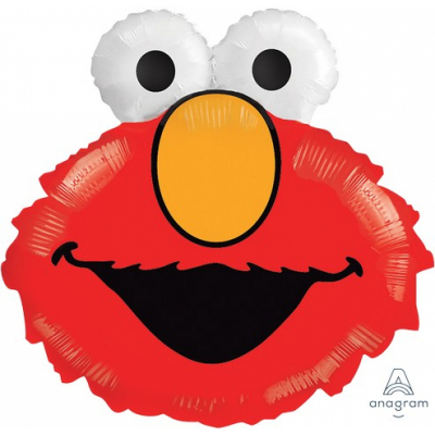 Supershape Elmo Head Foil Balloon Inflated with Helium