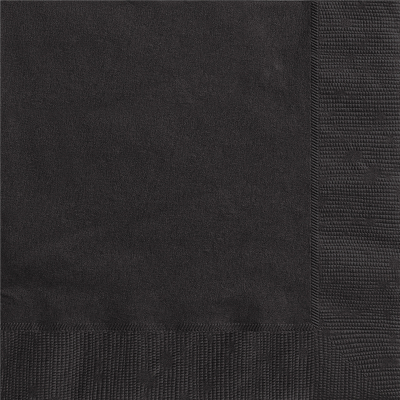 Beverage Napkin Black 20PK