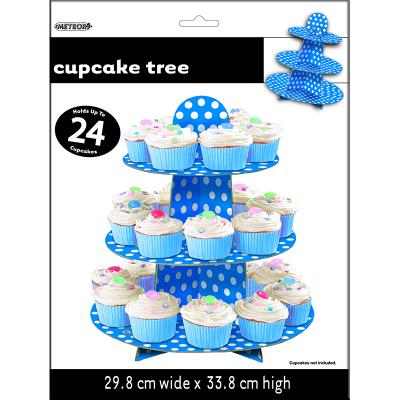 Polka Dots Cupcake Tree Royal Blue