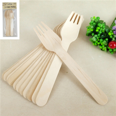 ECO Wooden Forks 12PK