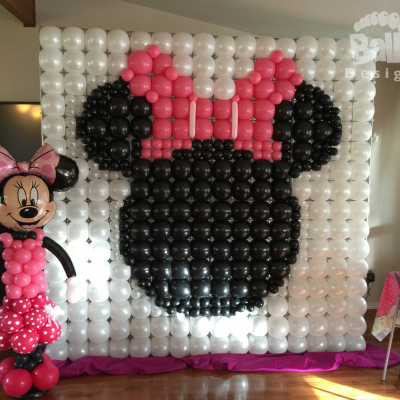 Balloon Wall Flat on the Frame Minnie Mouse
