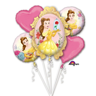 Beauty And The Beast Foil Balloon Bouquet 5PK