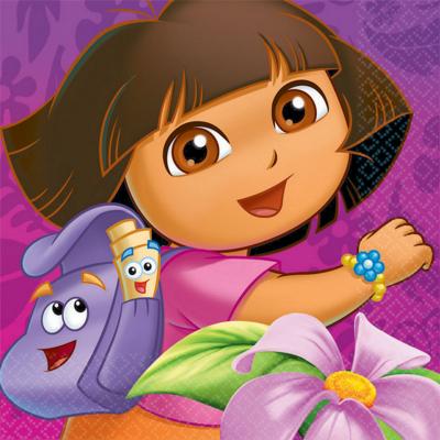 Dora's Flower Adventure Lunch Napkins 16PK