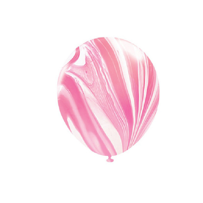 30cm Helium Quality Latex Balloons Marble Pink 10PK