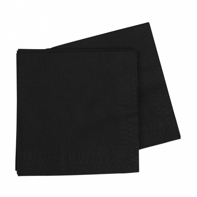 Five Star Lunch Napkin 33cm Black 40PK