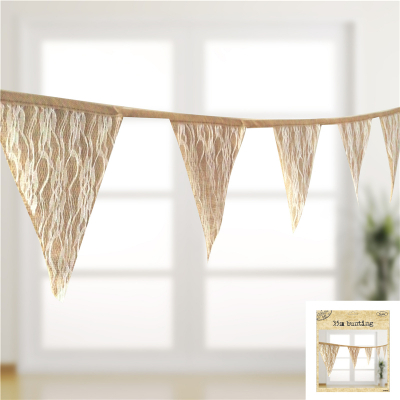 3.5M Rustic Hessian Lace Bunting