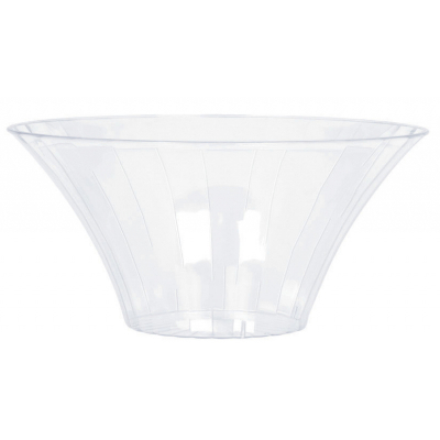 Flared Bowl Plastic Clear Small 18cm