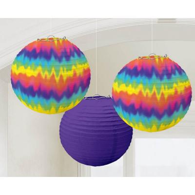 Feeling Groovy Round Paper Lanterns 3PK