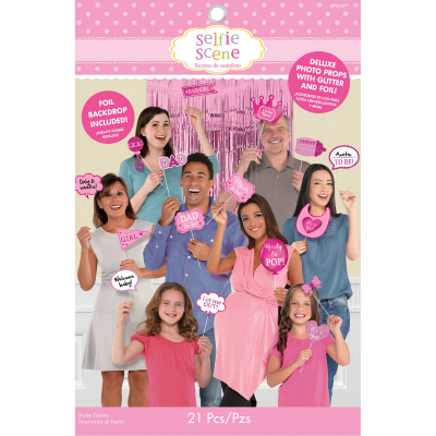 Baby Shower Pink Deluxe Photo Props Kit 21PK