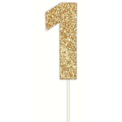 Golden Glitter Cake Topper 1