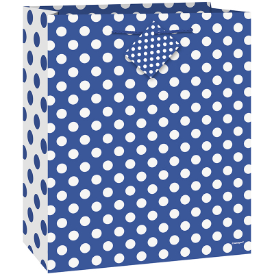 Polka Dots Gift Bag Royal Blue