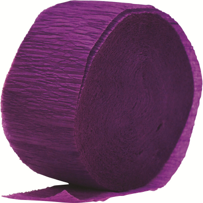 Crepe Paper Streamer 24M Purple