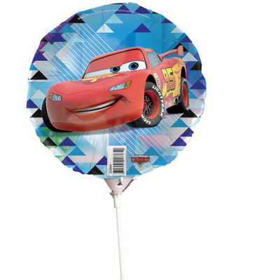 Disney Cars 22cm Foil Balloon On Stick