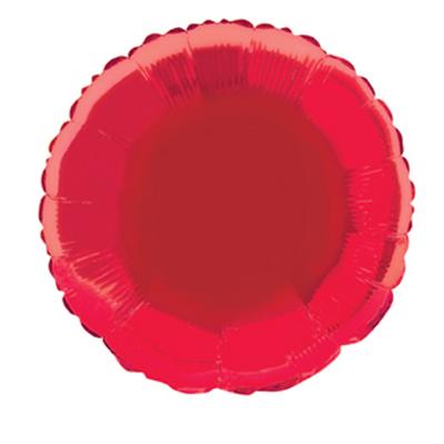 Round 45cm Foil Balloon Red