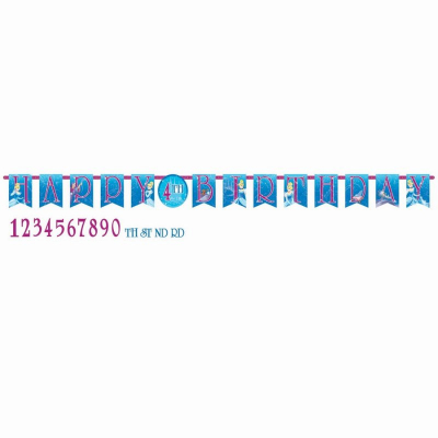 Cinderella Jumbo Add-An-Age Letter Banner Printed Paper