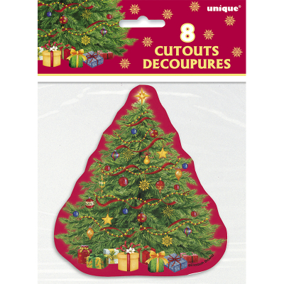 Mini Cutout Starry Christmas Tree 8PK