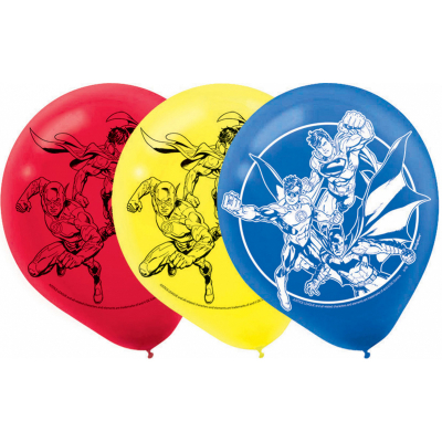 Justice League 30cm Latex Balloons 6PK