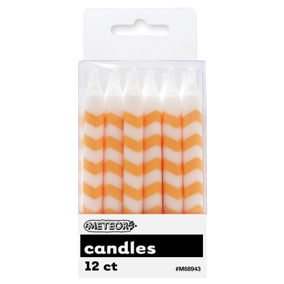 Chevron Candles Yellow 12PK