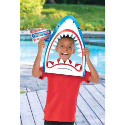 Summer Luau Shark Head Photo Prop & Cutout Foil Board 2PK