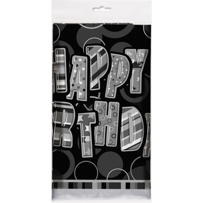 Glitz Birthday Black Tablecover