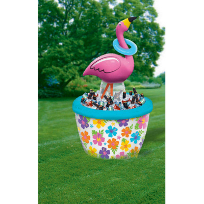 Inflatable Flamingo Ring Toss Cooler