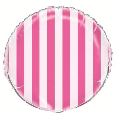 Stripes Hot Pink Foil Balloon