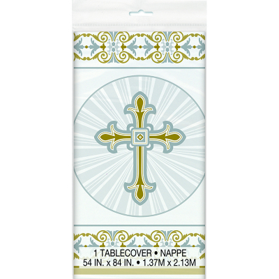Cross Gold Silver Tablecover