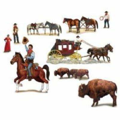 Western Wild West Wall Decorations Insta-Theme Props 9PK
