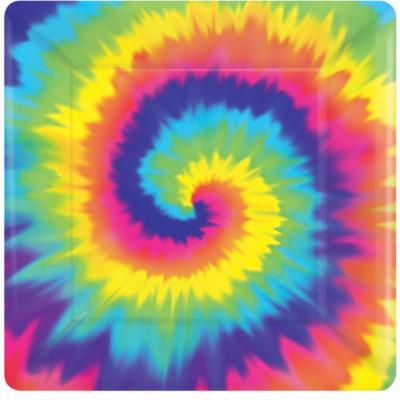 Feeling Groovy 17cm Square Plates 8PK