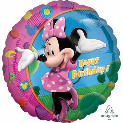 Minnie Mouse Happy Birthday 45cm Standard Foil Balloon