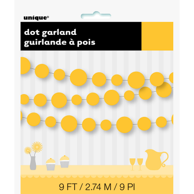Dots Garland 9Ft Yellow