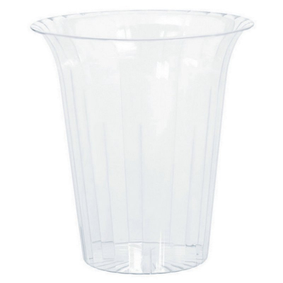 Flared Cylinder Plastic Clear Small