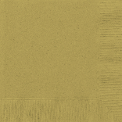 Beverage Napkins Gold 20PK