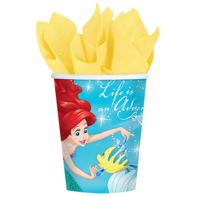 The Little Mermaid Ariel Dream Big 266ml Cups 8PK