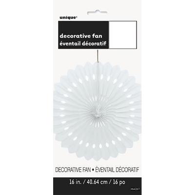 Hanging Decorative Fan 40cm White