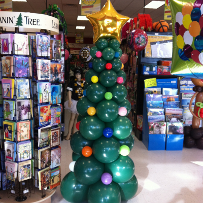 Balloon Column Christmas Tree