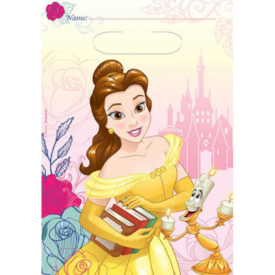 Beauty And The Beast Loot Bags 8PK
