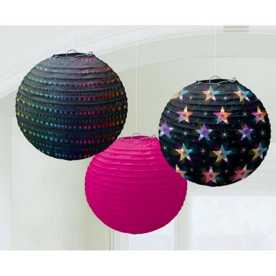 Disco Fever Round Paper Lantern 3PK