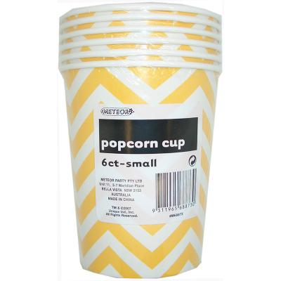 Chevron Popcorn Cup Small Yellow 6PK
