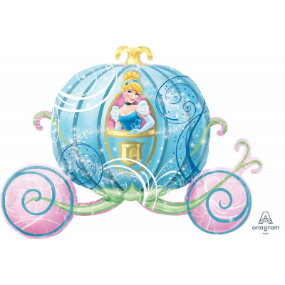 Cinderella Carriage Supershape Foil Balloon