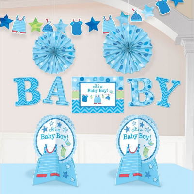 Shower with Love Boy Room Decorations Kit 10PK