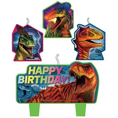 Jurassic World Birthday Candle Set 4PK