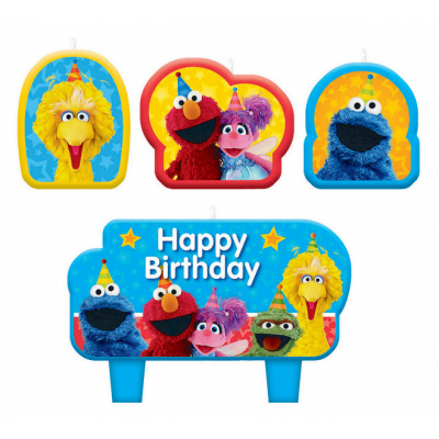 Sesame Street Birthday Candle Set 4PK