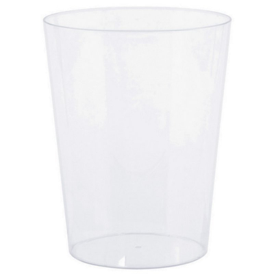 Cylinder Container Plastic Clear Medium