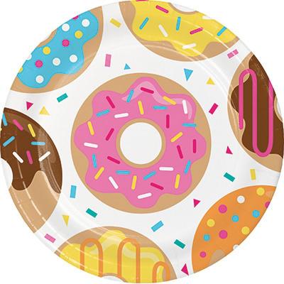 Donut Time Dinner Plates 8PK