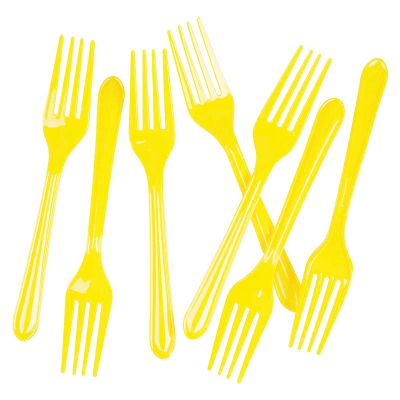 Five Star Dessert Fork Canary Yellow 20PK